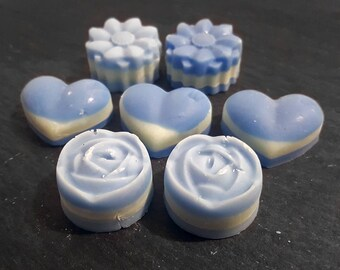 6 Decorative Sage & Seasalt Highly Scented Soy Wax Melts