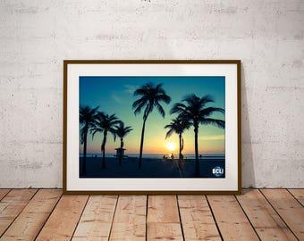 Palm Tree Sunrise 1 - Instant Digital Download