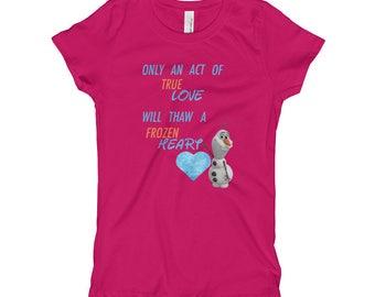 Olaf Frozen Heart Girl's T-Shirt
