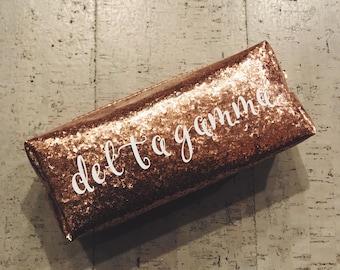 Delta Gamma Glitter Pouch