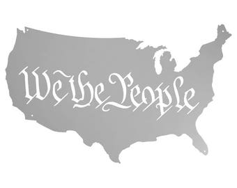 Metal, Art, Home Decor, USA, American, Country, We the People