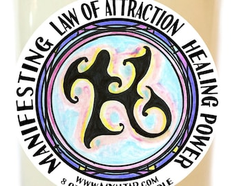 Law of Attraction Manifesting Healing Power Scented Soy 8 oz Glass Candle