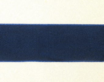 Navy Blue Velvet Ribbon-36 mm wide-Trim #39