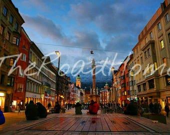 Innsbruck City Scape (Austria) print