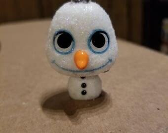 Custom Glitter Olaf Mini Funko pop