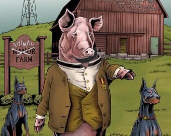 Animal Farm Print  11x17