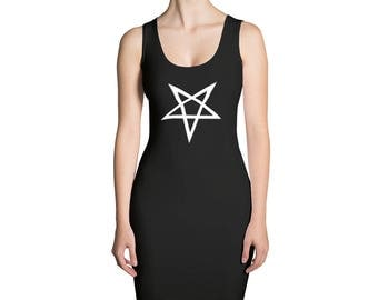 Evil Pentagram Bodycon Dress
