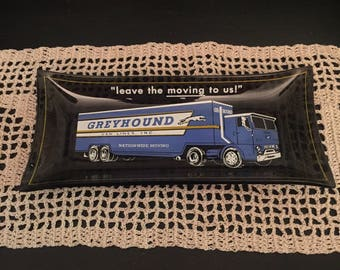 Vintage Greyhound Van Lines Ashtray