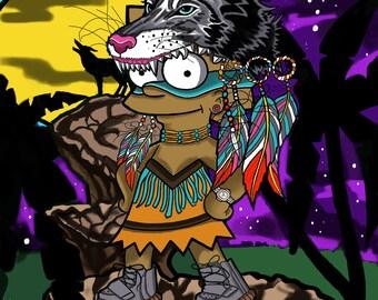 Native American Lisa Simpson