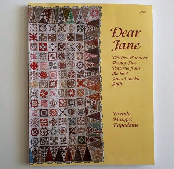 Book Cover Vintage Quilt : Vintage quilting book dear jane by brenda manges
