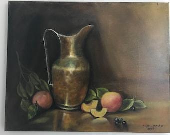 Copper jar still life