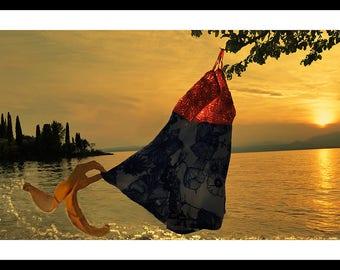 BananeHand-Funny Art-summer Lago de Garda-art print-with frame-glossy paper