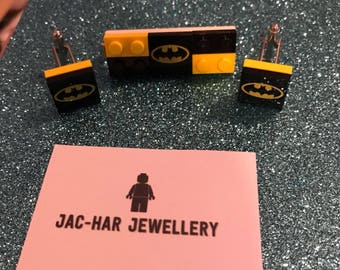 Batman lego Cufflinks and tie clip set