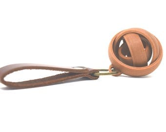 Gyro Keychain with leather key ring | Hand Spinner Toy