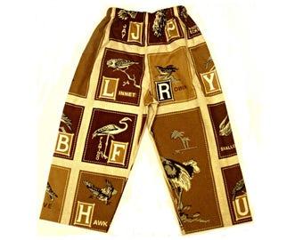 Cotton bird pajama pants