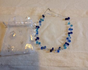 Glass floating necklace