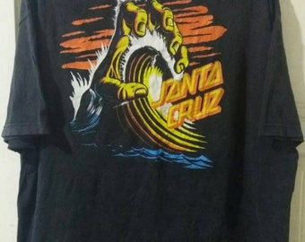 SANTA CRUZ Skateboard Vintage 90s T shirt. XXL size