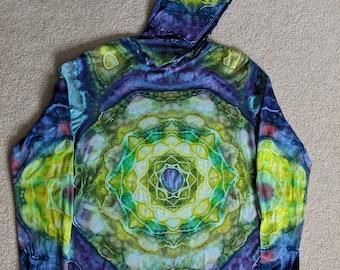 Large Tie Dye Mandala Hooded T-shirt