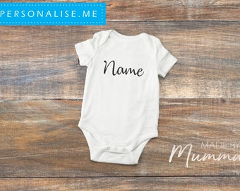 Personalised Name, New Baby Bodysuit, Personalised Baby Onesie