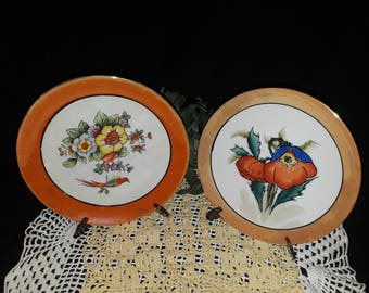 Lusterware made in Japan - set of two plates