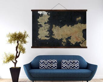 Huge Game of Thrones Map - Westeros & Essos - Wall Art Poster Print 60x40 inches