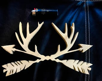 Antlers and Arrows - Wooden Cut Out