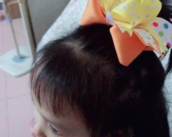 5 inch girl baby hair bow handmade strawberry