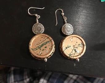 Recycled milk cap earrings