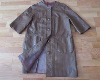 Vintage Genuine Leather Coat XS USA