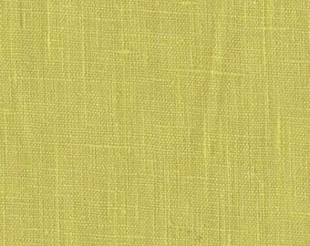 Lime Green Solid Linen Fabric / Textiles / Fabric by the Yard