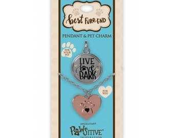 Best Furr-End Pendant and Charm Set - Live Love Bark