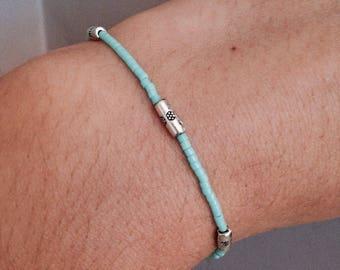 Boho Filigree Miyuki beaded bracelet-Turquoise