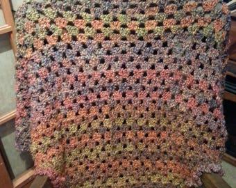 shawl, blanket shawl, crochet shawl