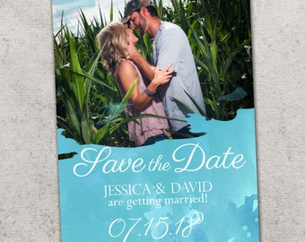 Save the Date Announcement, Save the Date Magnet, Save the Date Postcard, Watercolor Save the Date Announcement