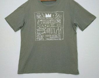 Jean Michel Basquiat Pop Art Vintage T-shirt X-LARGE