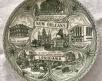 Vintage New Orleans Collectible Plate