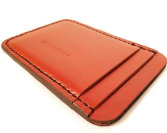 Frank Henry Standard S56 leather cardholder Cognac