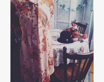 Original 1970s floral shift dress