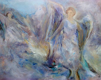 NEREIDS print on canvas signed by the artist