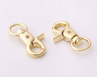 10pcs Lobster Swivel Clasps Swivel Clasps Gold trigger snap hooks Swivel snap hook For Keychains Purse clasp Strap clasp Swivel clasp