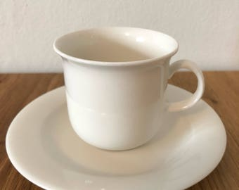 Arabia Finland Arctica Coffee Cup and Saucer Vintage