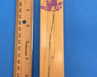A Real Long-Stemmed Wildflower Rubber Stamp