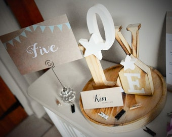 Table Numbers - Rustic Happiness