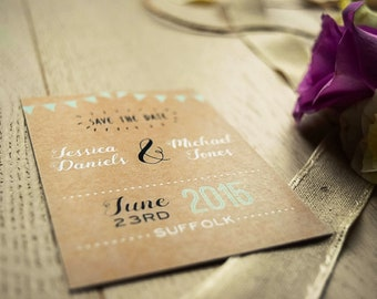 Save the Date - Rustic Happiness