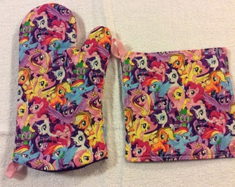 My Little Pony Oven Mitt and Hot Pad