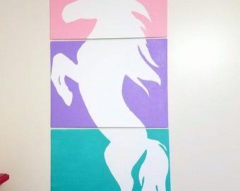 Unicorn on canvas