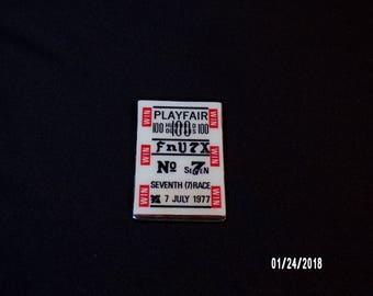 Playfair Fnu7X No 7 seventh (7th) race July 7th 1977 Money Clip