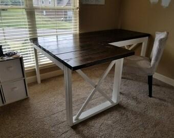 L Shaped Desk Etsy