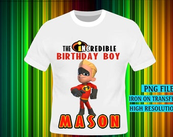 The Incredibles Iron On Transfer, The Incredibles Birthday Shirt DIY. Boy Birthday Shirt DIY, Incredibles. Digital Files, High Resolution.