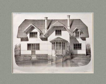 Antique architectural print